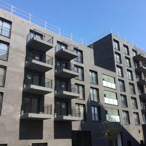 Logements ONYX / De Alzua Architecte / Faro noire plaquettes Röben