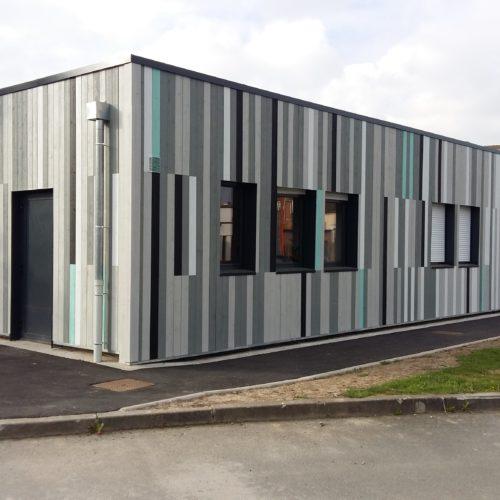 Foyer - Hellemmes / Cassar architecte / Joint V Temple green-blanc-noir-gris victorien-gris driftwood
