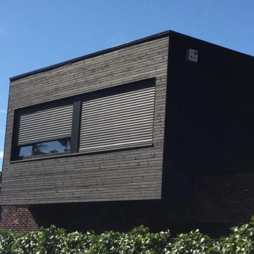 Maison individuelle - Sainghin en Mélantois / Bourlet architecte / Joint double rhombus deep charcoal - bardage cape cod