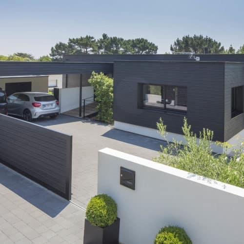 Maison individuelle / joint double rhombus noir – bardage cape cod