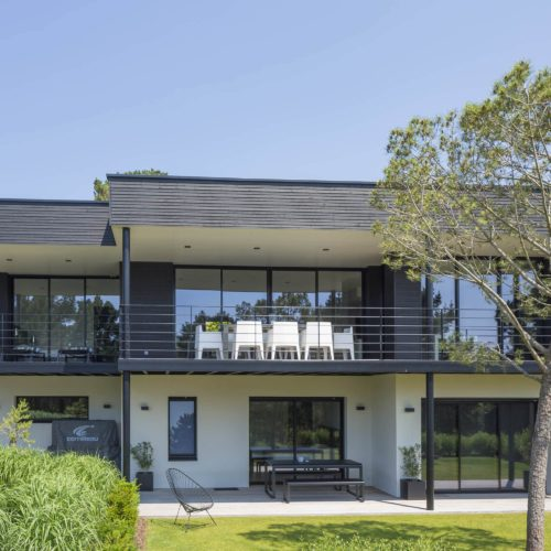 Maison individuelle / joint double rhombus noir - bardage cape cod