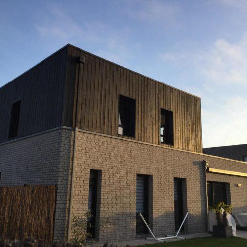 Maison - Villeneuve d'Ascq / Joint eurochannel grande largeur noir - bardage cape cod
