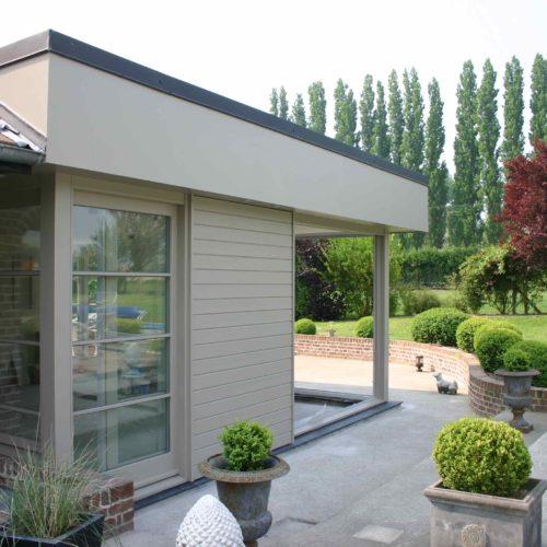 Maison individuelle - Mérignies / Beunier architecte / Joint eurochannel blanc - bardage cape cod