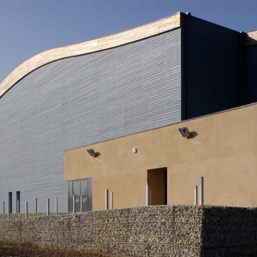 Centre culturel - Aulnoy les Valenciennes / Dodat Villain / Joint V bleu - bardage cape cod