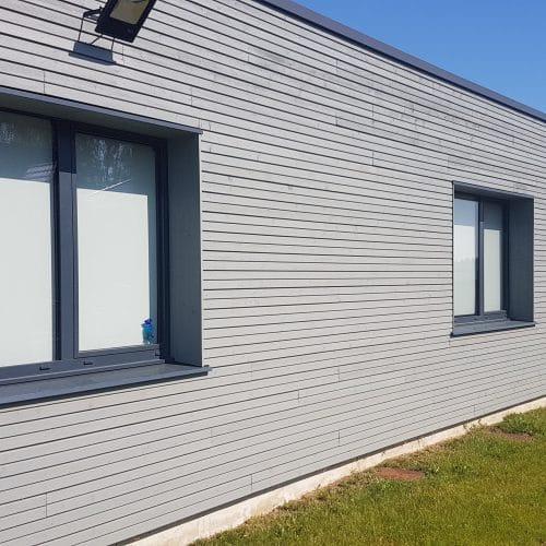 """""""Maison Médicale du Mélantois"""" - Sainghin-en-Mélantois / Kontext Architecture / Joint double rhombus gris driftwood - bardage cape cod"""